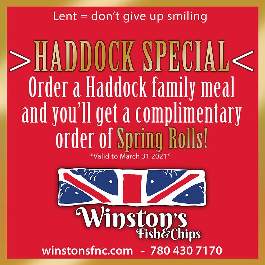 Winstons Fish and chips - Haddock Special