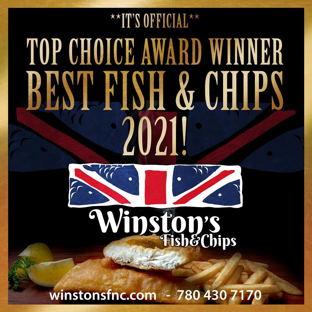 Winstons Fish and chips - Top Choice Award