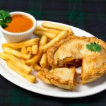 Butter Chicken Pie And Chips